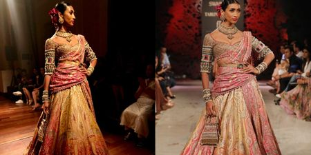 Obsessed With This New 'Kamarbandh Dupatta Drape' We Spotted At Tarun Tahiliani's Show!