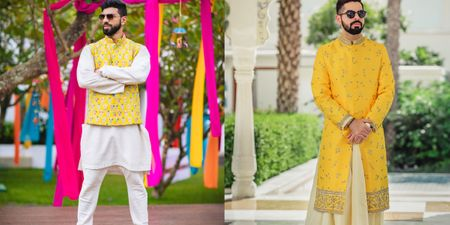 Who Said Yellow Isn't For Boys? Grooms Who Rocked Yellow & How!