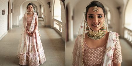A Romantic Hampi Wedding With A Bride In A Personalised Pastel Outfit