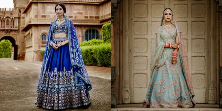 All The Shades Of Blue – Blue Lehengas That Took Our Breath Away!