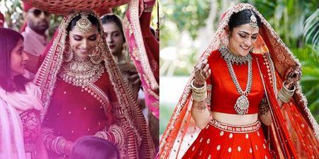 This Bride Wore Deepika's Padukone's Bridal Lehenga & Styled It So Differently!