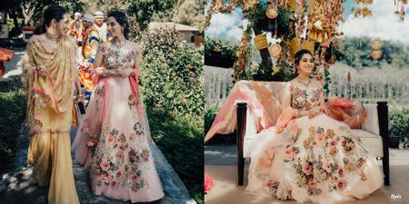 We Are Obsessed With This Bride's Pastel Appliqué Work Lehenga!