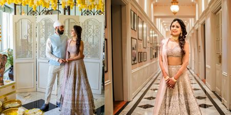 An Elegant Mumbai Wedding With A Bride In An Intricate Pastel Outfit & Handcrafted Jewellery