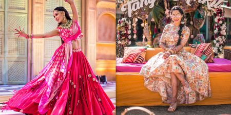 Brides Who Wore Unique Mehendi Outfits And Totally Nailed It!