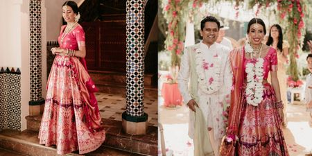 A Love-filled Cross Culture Wedding With A Bride In A Banarsi Lehenga!