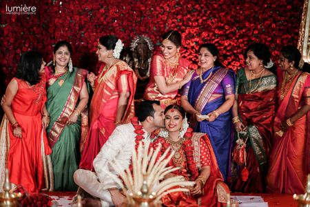 A Gorgeous Kochi Wedding With The Bride In A Traditional Kanjivaram
