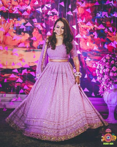 From Light To Bright, The Prettiest Purple Lehengas We Spotted On Real Brides!