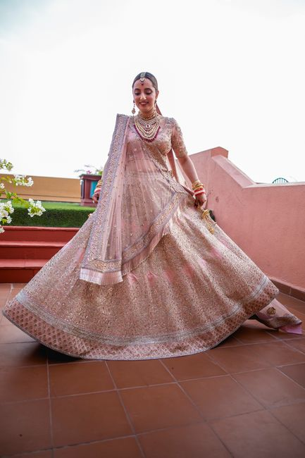 Elegant Goa Wedding With Pastel Theme & Perfectly Coordinated Bride & Groom Outfits