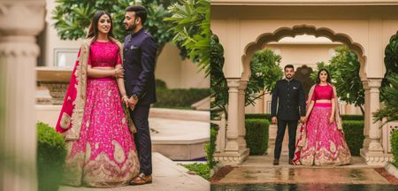 This Bride Wore Her Mother's Bridal Lehenga For Her Pre-wedding!