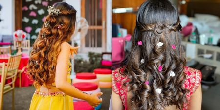 Easy Half Updo Hairstyles For That Dreamy Mehndi Look