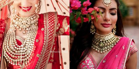 Jewellery To Wear With Your Red, Pink & Ivory Lehengas!