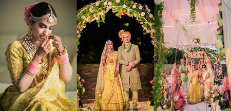 Breathtaking Thailand Wedding With A Sunshine Yellow Bridal Lehenga