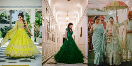 25 Different Shades Of Green We Spotted In Bridal Outfits!