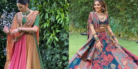 Multicoloured Panelled Lehengas Are In, Monochrome Ones Are Out!