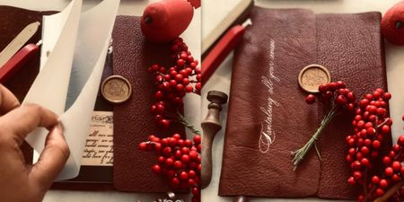 This Leather Bound Album Invite Is Just The Kind Of Vintage You Need!
