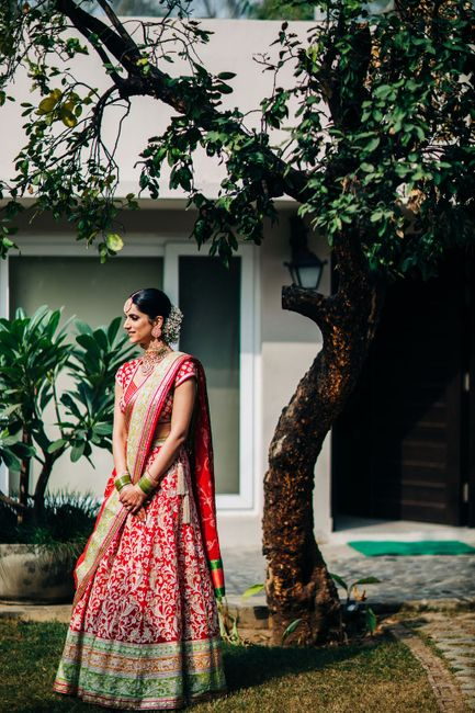 An Elegant Delhi Wedding With Vibrant Bridal Outfits