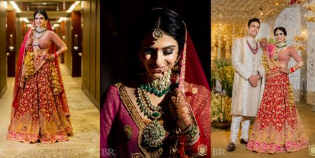 A Stunning Delhi Wedding With Customised Bridal Outfits