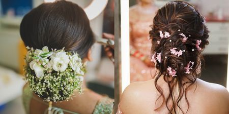 Gorgeous New Floral Bridal Bun Ideas For You To Bookmark & Save!