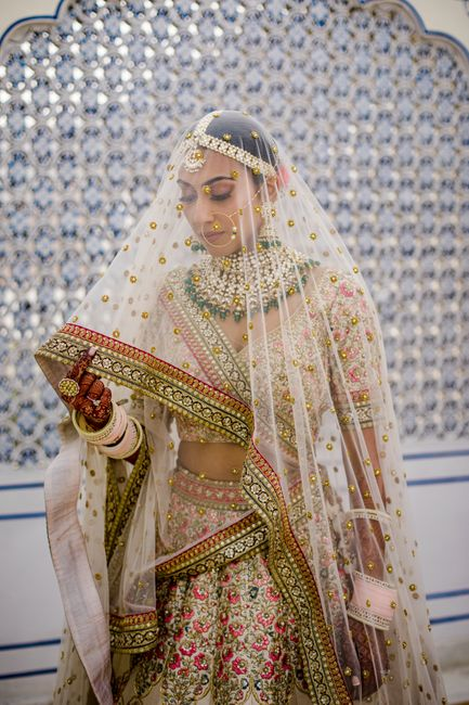 Royal Jaipur Wedding With A Couple In Voguish Outfits