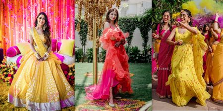 The Prettiest Haldi Outfits We Spotted On Our Real Brides!