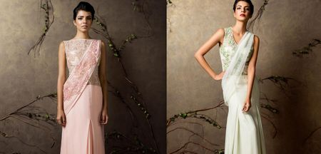 Our Gorgeous Pastel Lehenga Saree Picks For The Bride-To-Be