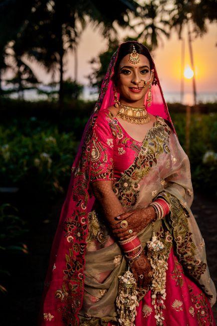 Pretty Goa Wedding With A Rani Pink Bridal Lehenga