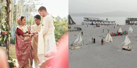 This Couple Had An Eco-friendly Wedding On A Tiny Island!
