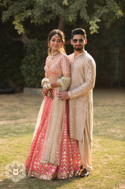 A Delhi Wedding With The Bride In A Shimmery Lehenga
