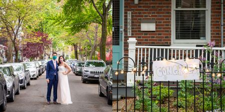This Couple Exchanged Vows In The Middle Of The 'Friendliest Street' Amidst The Pandemic!