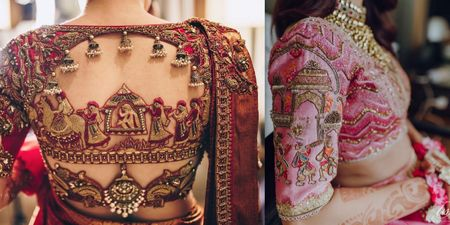 #Trending: Blouse Designs With Baraat Motifs!