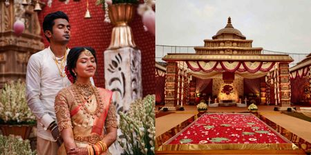 This Couple Got A Whole Temple Recreated For Their Wedding Decor!
