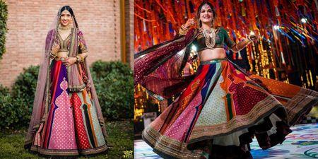 Real Brides Who Rocked The Sabyasachi Panelled Lehenga & How!