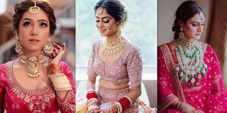 Contrasting Jewellery To Wear With Your Pink Lehenga!