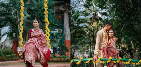 Intimate Pune Wedding With 17 Guests & Bride Who Wore Her Mother's Wedding Saree