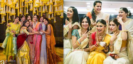 #Trending: Bridesmaids In Coordinated Sarees