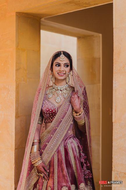 A Breathtaking Jaisalmer Wedding With The Bride In Turkish Rose Lehenga
