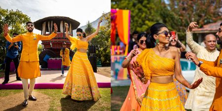 This Bride Got Her Mehendi Outfit Customised To Match Her Groom's- All Online!