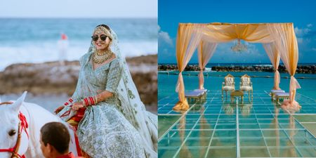 From A Beach Mandap To A Bridal Baraat- This Wedding Had Some Unique Ideas!