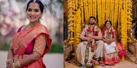 Lively Cross-Culture Wedding With The Bride In An Ethereal Saree