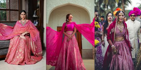 10+ Pink Banarasi Lehengas That You Should Save For An Intimate Wedding