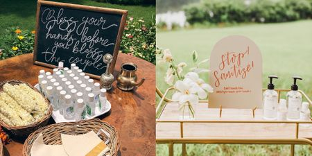 Cute Ideas For A Sanitiser Station At Your Intimate Wedding