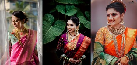 Stunning Maharashtrian Brides Who Wore A Different Colour Than Yellow & Green For Their D-Day!