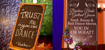 DIY Chalkboard Bar Signs For Your Intimate Wedding Functions!