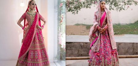 10 Of The Most Unique Fuchsia Lehengas We Spotted On Real Brides
