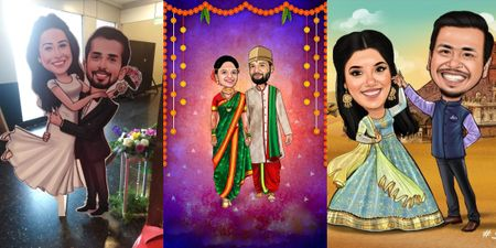 This Artist Converts Your Wedding Photos Into Caricatures For A Quirky Souvenir