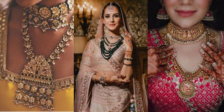 Gorgeous Layered Jewellery Ideas For Coronial Brides