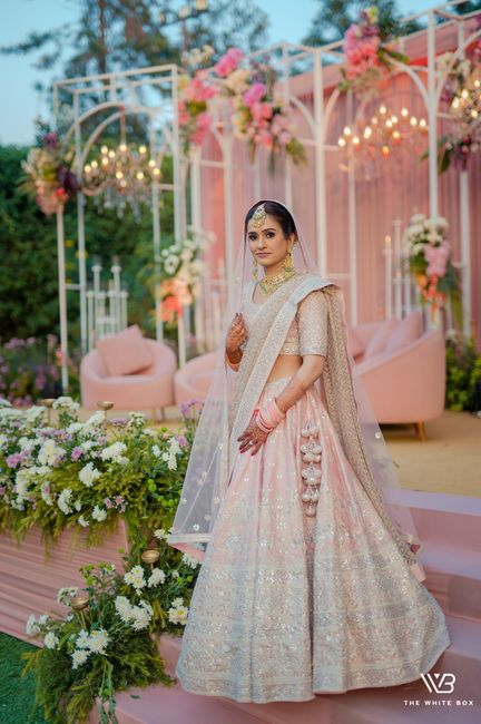 Glam Delhi Wedding With Stunning Décor & Bridal Outfits