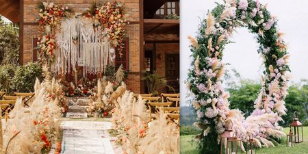 How To Include Pampas Grass Into Your Wedding Decor!