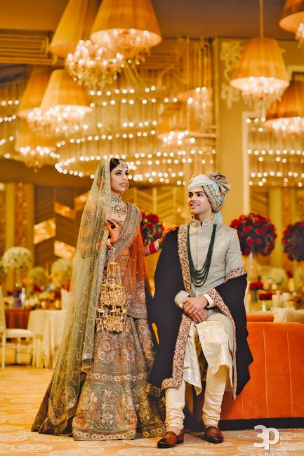 Glam Chandigarh Wedding With The Bride In An Earthy Tone Lehenga