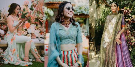 5 Refreshing New Colour Combinations For Your Mehendi Lehenga!